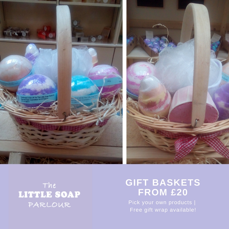 Gift baskets from 20 at the little soap parlour diamond centre create a personalised set with your own choice of items from the great selection available in store a free gift wrapping service is also available negle Image collections